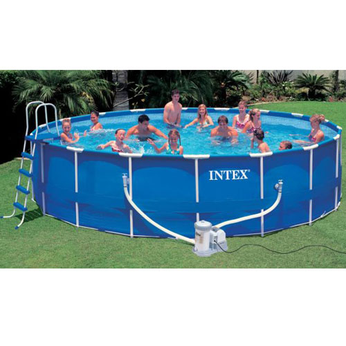 Intex piscina metal frame tonda cm 549x122 con accessori for Intex accessori